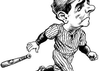 Caricature of Babe Ruth