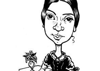 Caricature of Emily Dickinson