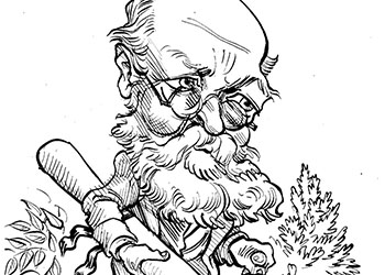 Caricature of Olmsted