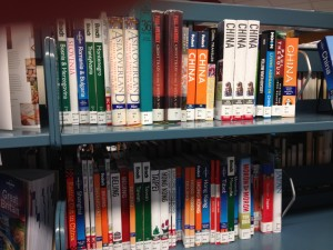 Books on Shelf at Library