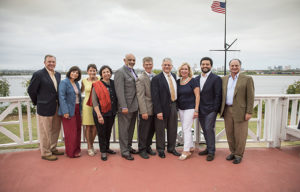 Maryland Humanities group Board member photo from the 2015 OMOB Author Tour reception.