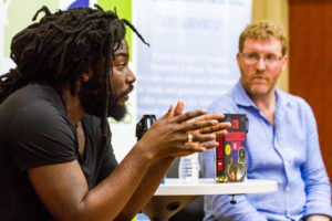 One Maryland One Book 2016 authors Jason Reynolds and Brendan Kiely.
