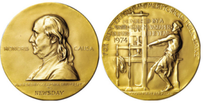Detail of the Pulitzer Prize Medal