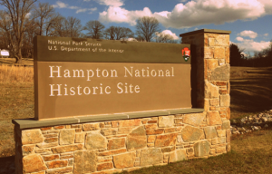 Hampton National Historic Site Sign