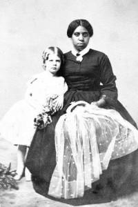 Nancy Davis with Eliza Ridgely