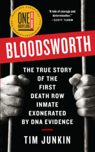 Bloodsworth by Tim Junkin book cover with One Maryland One Book logo