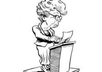 Caricature of Elanor Rosevelt