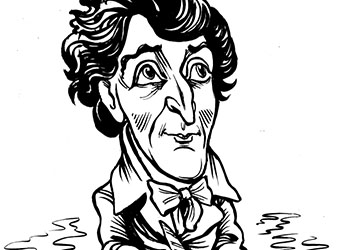 Caricature of Francis Scott Key