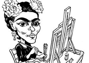 Caricature of Frida Kahlo