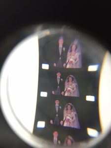 From the physical inspection of the 16mm A. Harvey Schreter wedding film