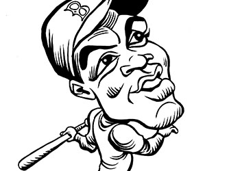 Caricature of Jackie Robinson
