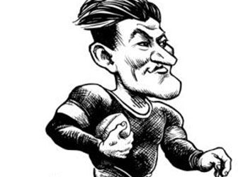 Caricature of Jim Thorpe