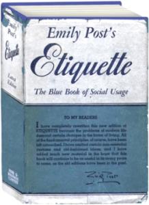 """Emily Post's """"Etiquette"""" 1947 edition."""