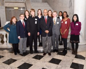 Lt Governor Boyd Rutherford with Maryland History Day honorees