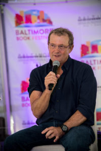 "One Maryland One Book author Tim Junkin discusses ""Bloodsworth: The True Story of the First Death Row Inmate Exonerated by DNA Evidence"" at the Baltimore Book Festival, as part of the 2018 Author Tour."