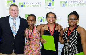 Bruce Lesh and Eastern Middle School students at Maryland History Day 2016