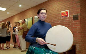 Student plays drum at Maryland History Day