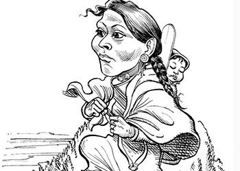 Caricature of Sacagawea