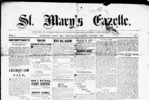 St. Mary's Gazette., October 01, 1863.