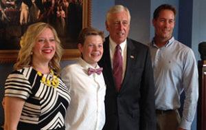 Tiffany Nickels, Parker Nickels, Congressman Steny Hoyer, Rich Nickels