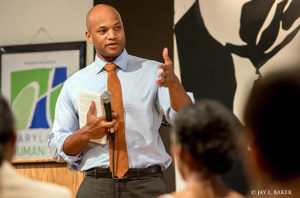 Wes Moore at Urban Express event at Eubie Blake Cultural Center. Photo by Jay L. Baker.