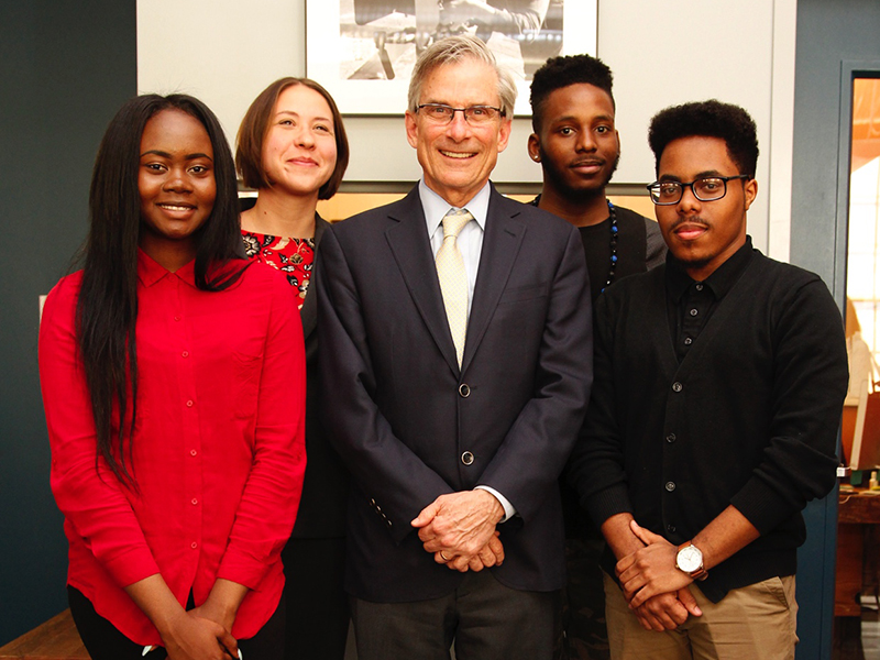 Wide Angle Youth Media with NEH Chairman Bro Adams.