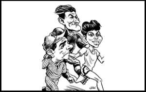 Babe Ruth Jim Thorpe and Wilma Rudolph Caricature