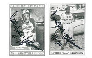 Baseball cards from Black Memorabilia Show at Reginald F. Lewis Museum