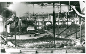 Historical photo of the interior of an ampitheater for Chautauqua performance
