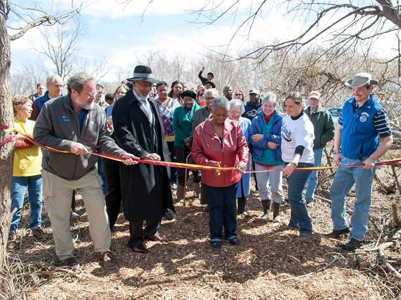 Galesville community trail ribbon cutting