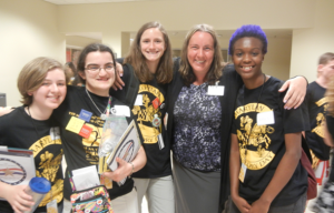 Ms. Snyder with Students